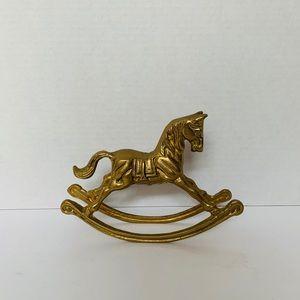 Brass Rocking Horse 🍂